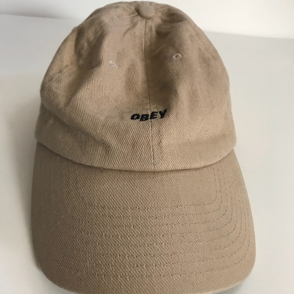 cdad2eaa106 Obey Jumble Bar Khaki Dad Hat. M 5a9593faf9e5016e328066e0
